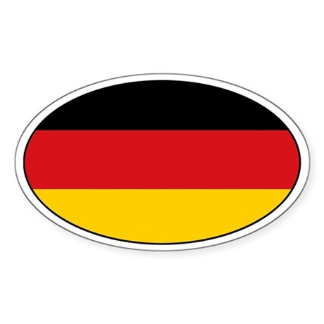 German flag with text Oval Sticker