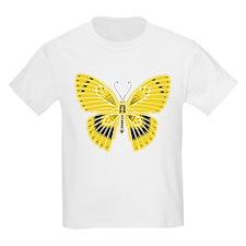 Yellow Art Nouveau Deco Butterfly T-Shirt