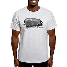 Hog Wild! Antique Image of Farm Pig T-Shirt