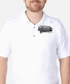 Hog Wild! Antique Image of Farm Pig T-Shirt