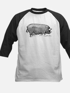 Hog Wild! Antique Image of Farm Pi Baseball Jersey