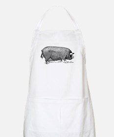 Hog Wild! Antique Image of Farm Pig Apron