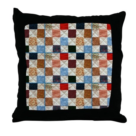 Colorful quilt pattern Throw Pillow by ADMIN_CP111190267