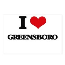 I love Greensboro Postcards (Package of 8)