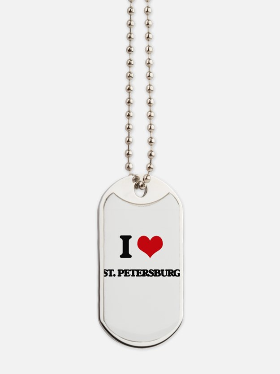 I love St. Petersburg Dog Tags