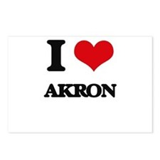 I love Akron Postcards (Package of 8)