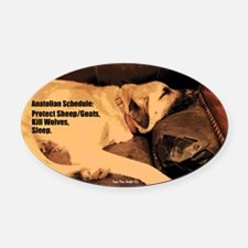 Anatolian, Couch Potato Oval Car Magnet