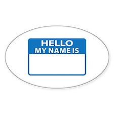 NAME DROP NAME TAG Decal