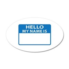 NAME DROP NAME TAG Wall Decal