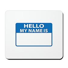 NAME DROP NAME TAG Mousepad