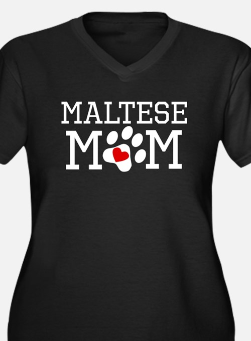 Maltese Mom Plus Size T-Shirt
