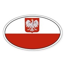 Polish flag Oval Stickers