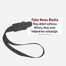 Hillary's Fake News Media Luggage Tag