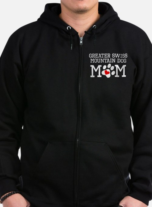 Greater Swiss Mountain Dog Mom Zip Hoodie