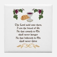 BREAD OF LIFE Tile Coaster