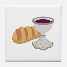 BREAD AND CHALICE Tile Coaster