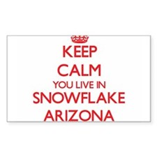 Keep calm you live in Snowflake Arizona Decal
