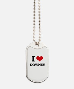 I love Downey Dog Tags