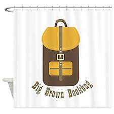 Big Brown Bookbag Shower Curtain
