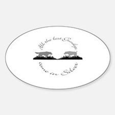 2-Silver Gundog Pocket.png Sticker (Oval)