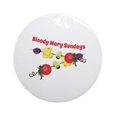 Bloody Mary Sundays Ornament (Round)