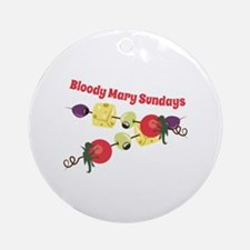 Bloody Mary Sundays Ornament (Round)