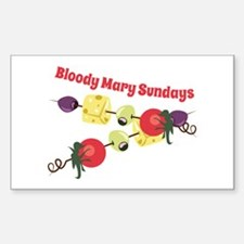 Bloody Mary Sundays Decal
