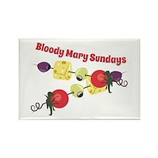 Bloody Mary Sundays Magnets