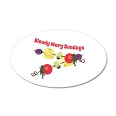 Bloody Mary Sundays Wall Decal