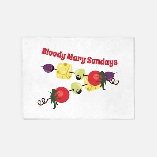 Bloody Mary Sundays 5'x7'Area Rug