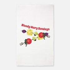 Bloody Mary Sundays Area Rug
