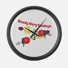 Bloody Mary Sundays Large Wall Clock