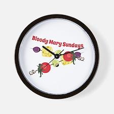 Bloody Mary Sundays Wall Clock