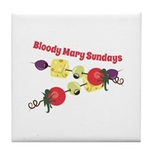 Bloody Mary Sundays Tile Coaster