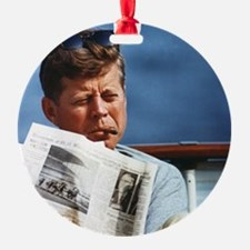 JFK Smoking Ornament