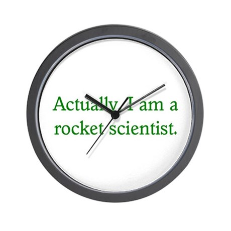 Rocket Scientist Wall Clock