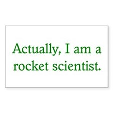 Rocket Scientist Rectangle Decal