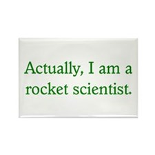 Rocket Scientist Rectangle Magnet
