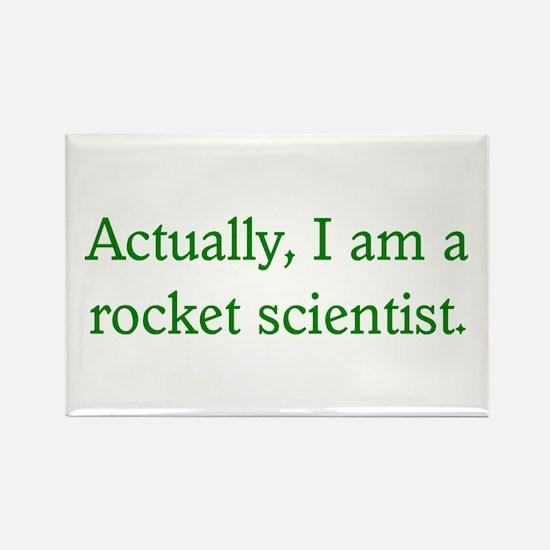 Rocket Scientist Rectangle Magnet
