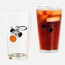 YELLOW JACKET BASKETBALL Drinking Glass