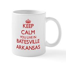 Keep calm you live in Batesville Arkansas Mugs