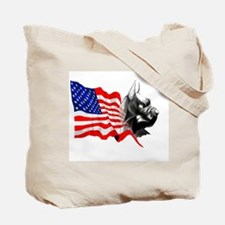 Cute Flag giant schnauzer Tote Bag