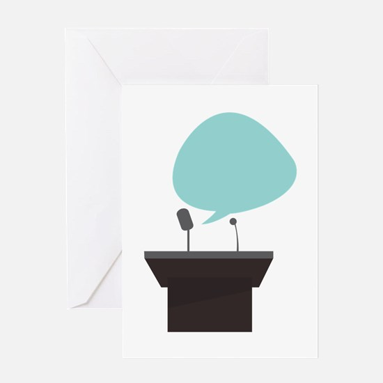 Speech_Base Greeting Cards