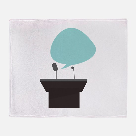 Speech_Base Throw Blanket