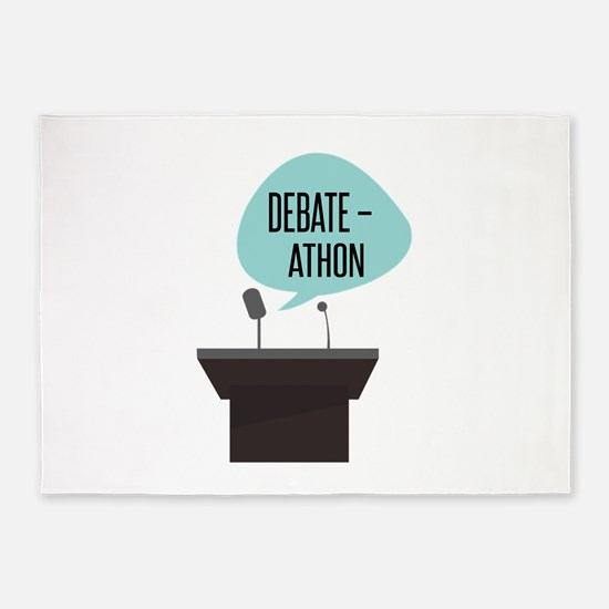 Debate-Athon 5'x7'Area Rug