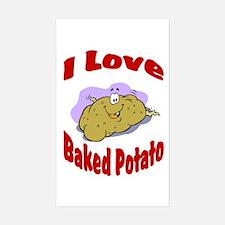 Baked potato Rectangle Decal