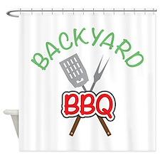 Backyard BBQ Shower Curtain
