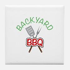 Backyard BBQ Tile Coaster