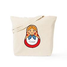 Matryoshka Russian Wooden Doll Tote Bag