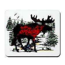 North Woods Moose  Mousepad